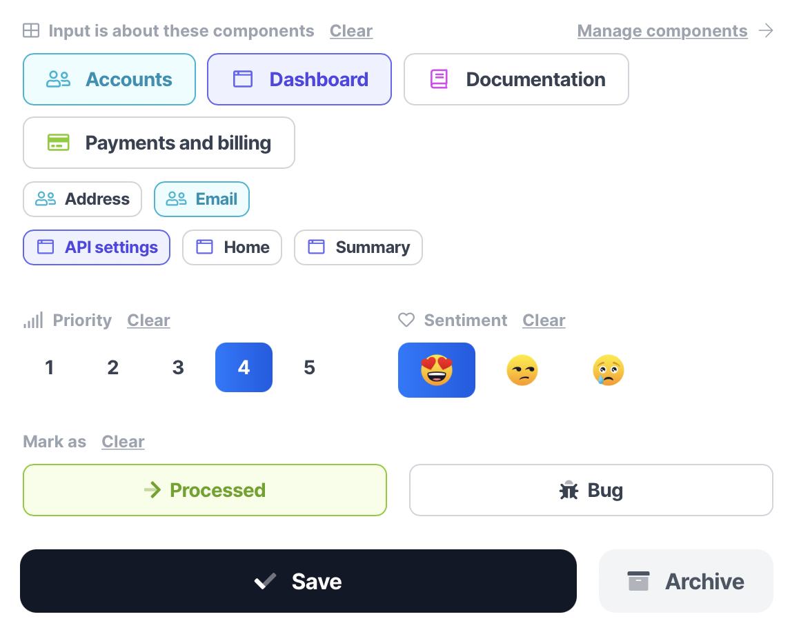 Connect input to the relevant parts of your app, or send bugs directly to your team - ProductNerd